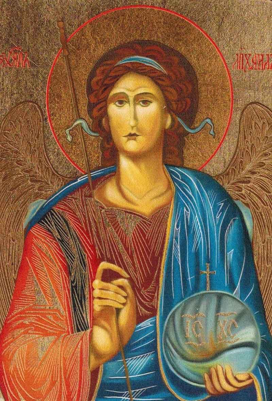 Poważnie Obraz z wizerunkiem Św. Michała Archanioła WX01