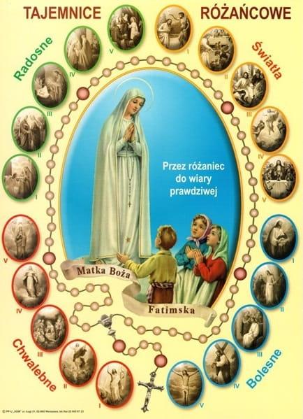 Znalezione obrazy dla zapytania matka boża róząńcowa