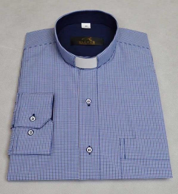 Koszula dla księdza taliowana SLIM 2  1IH8o