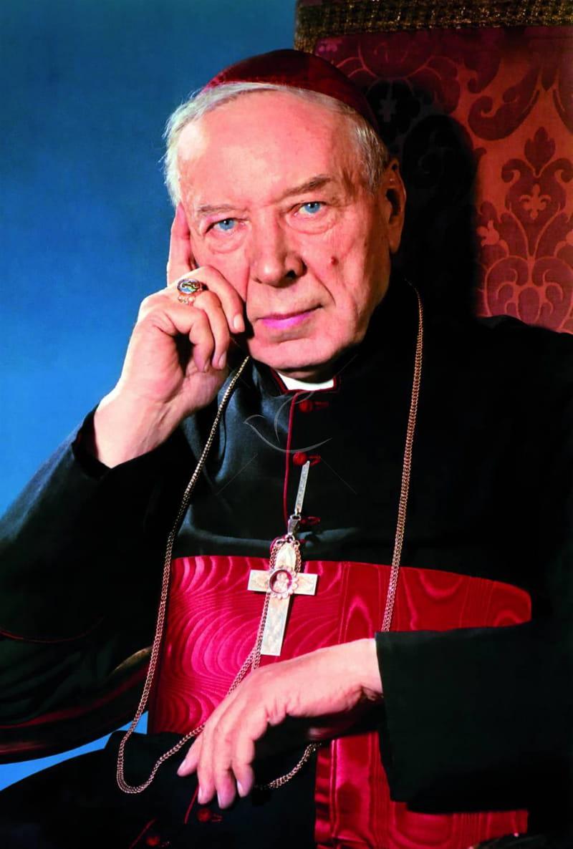Obrazek jednostronny z kardynałem Wyszyńskim